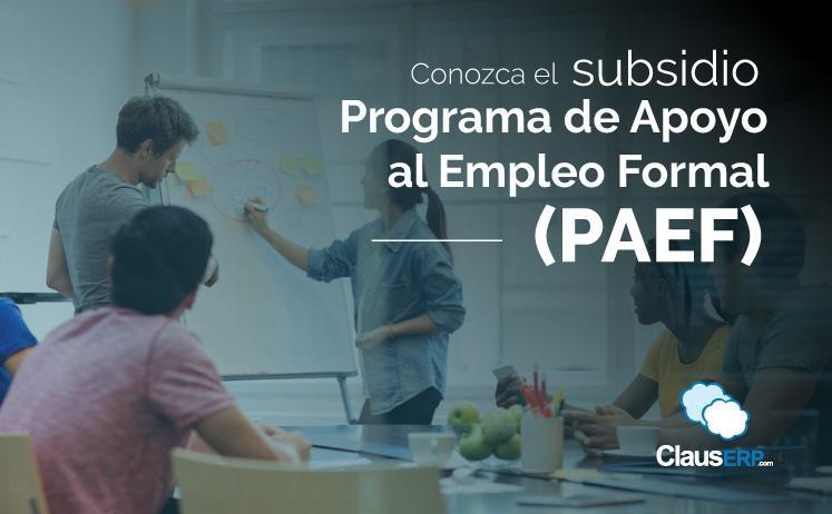 Conozca el subsidio Programa de Apoyo al Empleo Formal (PAEF)